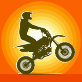 Fototapety Motorcyclist