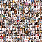 Mosaico de mucha gente diversa