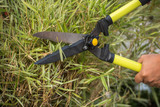 Cutting grass by using shear or clipper