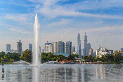 Poster Kuala Lumpur city skyline at at Titiwangsa park, Malaysia