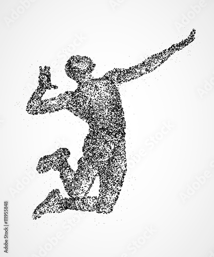 Fototapeta volleyball player abstract