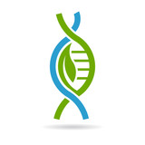 Biology DNA logo. Vector graphic design
