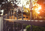 Wrought iron fence - 111986459