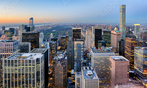 Foto op Aluminium New York New York city at night, Manhattan, USA