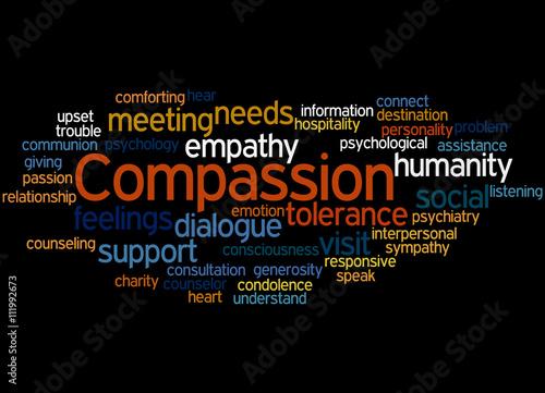 Compassion, word cloud concept 2