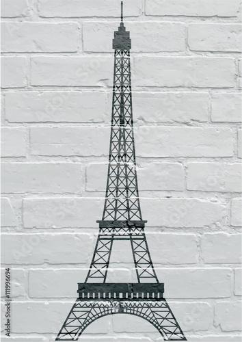 Art urbain, Paris, la tour Eiffel Poster