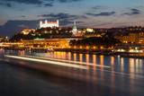 Night view on the capital of Slovakia - Bratislava