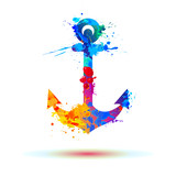 anchor of splash paint