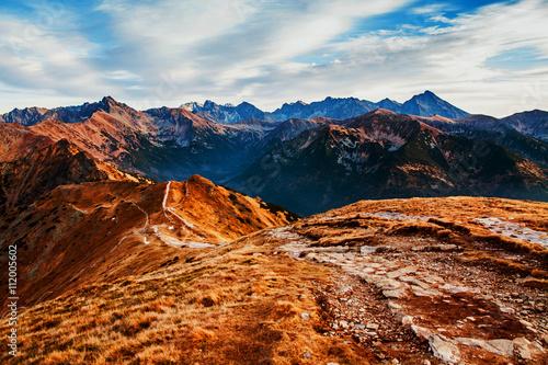 Zdjęcia na płótnie, fototapety, obrazy : Mountain landscape with rock path