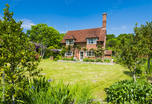 English Cottage House Poster