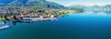 Panoramica aerea di Colico - Lago di Como (IT)