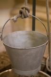 Old metal bucket
