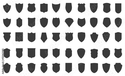 Set of vector shields - 112062085