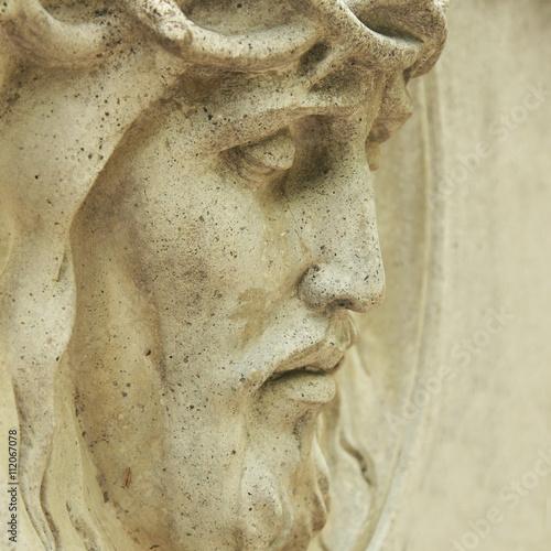 Fototapeta Face of Jesus Christ crown of thorns (statue)