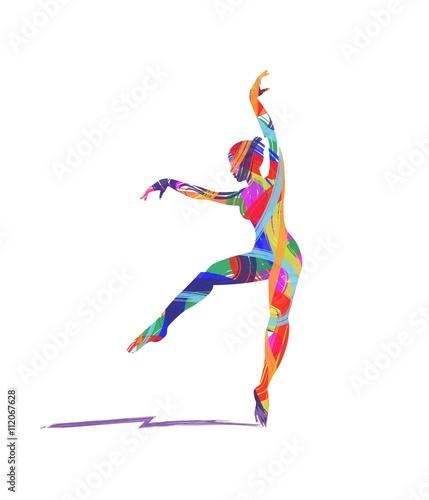 Fototapeta abstract dancer silhouette