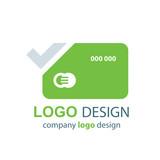 card logo vector green design