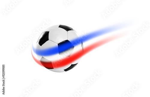 Poster Fußball mit Französischen Nationalfarben