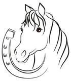 Лошадь с подковой