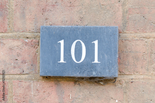 House Number 101 sign Poster