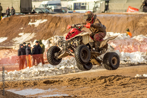 Papiers peints Nautique motorise the driver of the ATV