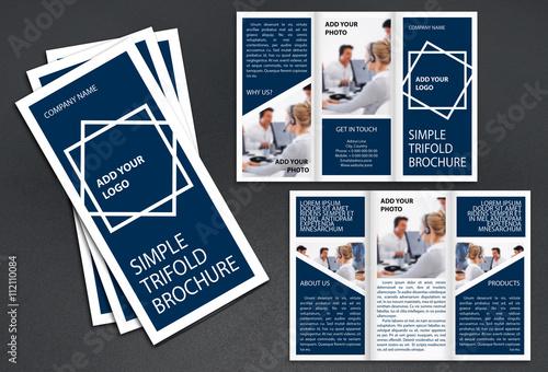 Simple Tri Fold Brochure Template
