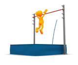 3d Guy: Over the Top of Pole Vault