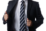 スーツを着るビジネスマン