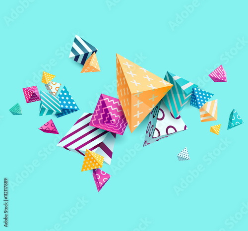 Abstract colorful background with geometric elements - 112117889