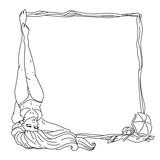 Summer girl frame
