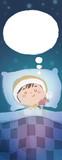 niño durmiendo en la cama feliz