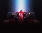 Red formula one car - epic lighting - 3D Illustration