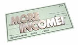 More Income Additional Increase Money Finance Words Check 3d Ill