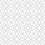 Fototapety Monochrome geometric thin line seamless pattern. Black and white background. Vector illustration