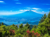Fototapety 富士山と河口湖