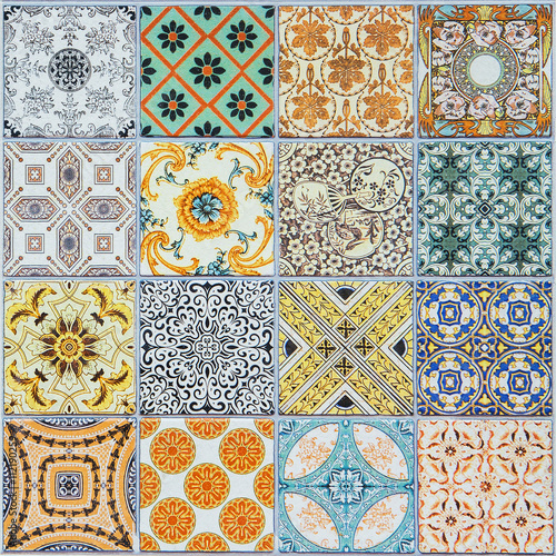 Naklejka dekoracyjna ceramic tiles patterns from Portugal.