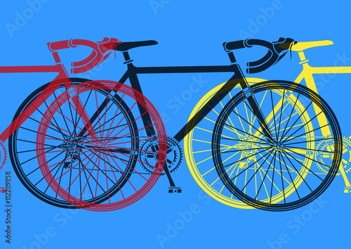Naklejka Vélo de course pop art