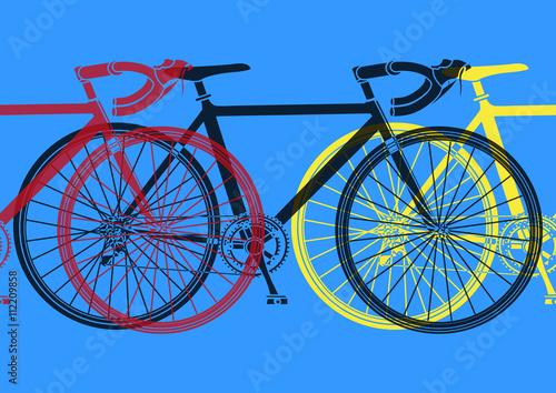 Fototapeta Vélo de course pop art