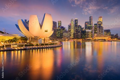 Obraz na plátne Singapore Skyline at Dusk