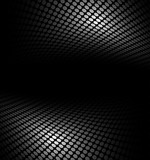 Black and white abstract halftone, perspective background. - 112216816