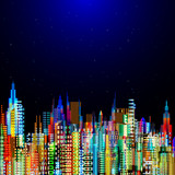 Modern city life abstract background design - 112216880