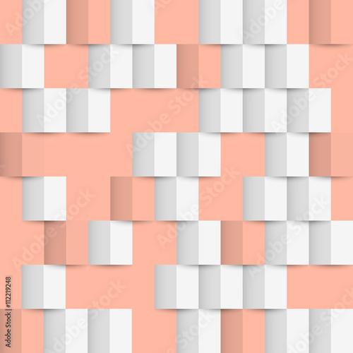 Tapeta Geometric 3d origami seamless pattern