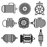 Electric motor vector icons - 112233260