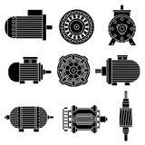 Electric motor vector icons - 112233271