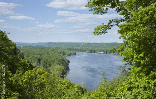 Fototapeta Overlook of the Mississippi River near Guttenberg, Iowa