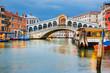 Rialto Bridge at dusk in Venice, Italy