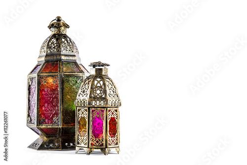 Oriental light lantern Arabic decoration Poster