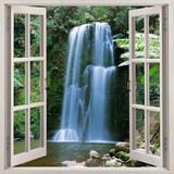 Open window view to famous Beauchamp Falls, Australia
