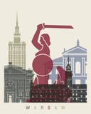 Warsaw skyline poster