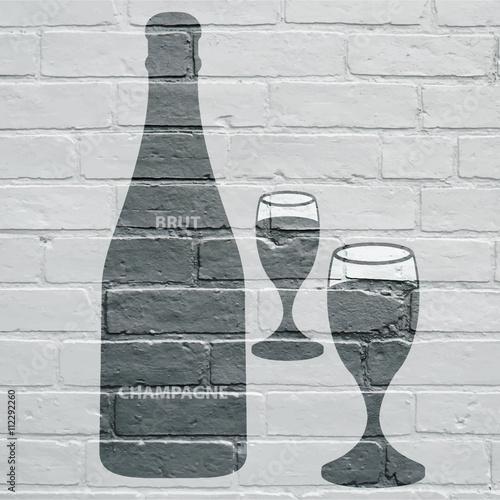 Art urbain, Champagne Poster