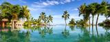 Pool Panorama mit Palmen - 112316218
